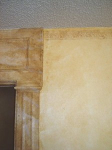 Wall-wash, Antiqued door molding, Door accent, Distressed Rope wall border 2