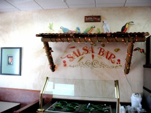 Salsa bar lettering and art
