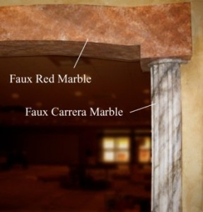 faux red marble