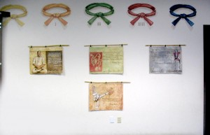 karate belts and canvas signs